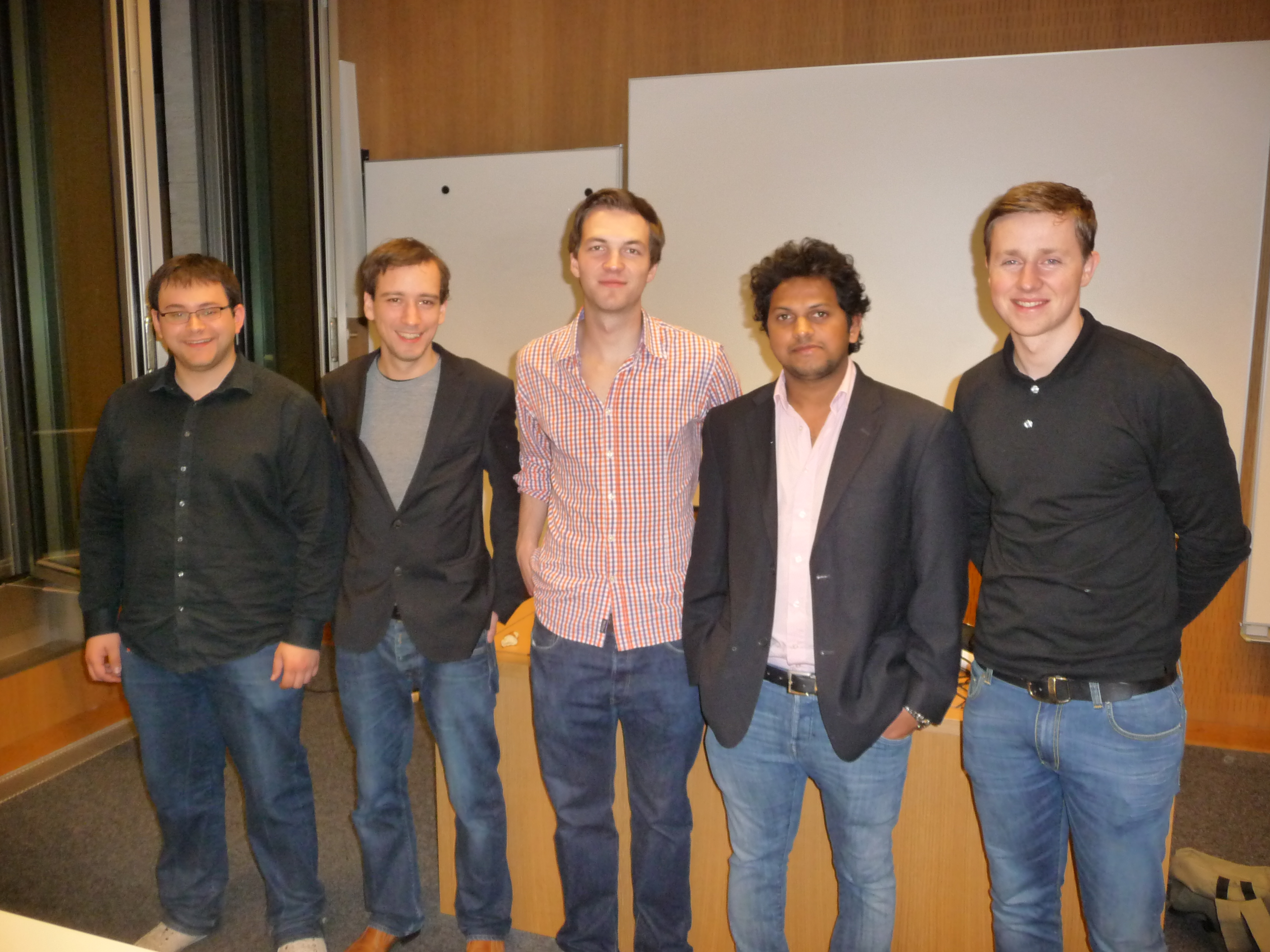 Die Gründer von FRAPPE, v.l.n.r. Mario Hachemer, Alexander Praetorius, Bernd Kopin, Vikas Shabadi, Clemens Groche.