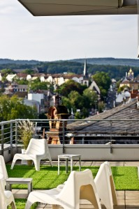 Fantastische Aussicht von der Dachterrasse