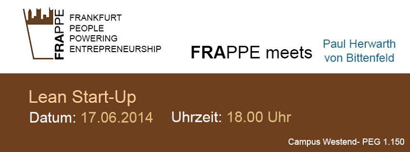 FRAppe-Treffen zum Thema Lean Start-Up am 17.6. in Frankfurt