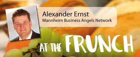 Alexander Ernst präsentiert das Mannheim Business Angels Network beim Unibator FRUNCH