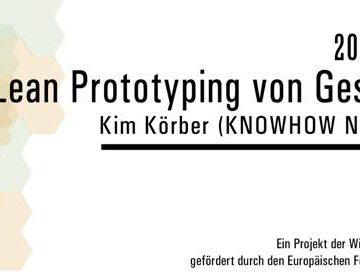 """""""Lean Prototyping von Geschäftsideen"""" am 20.1. im Mainraum"""