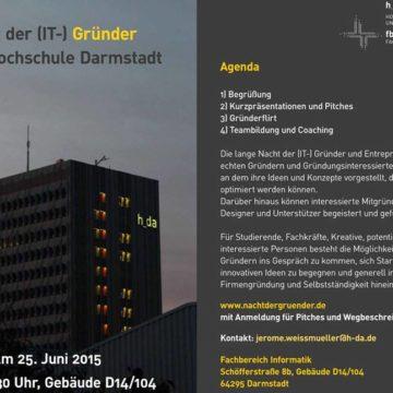 Nacht der (IT-) Gründer in Darmstadt