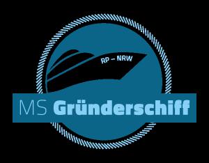 Die MS Gründerschiff legt ab und verbindet die Gründerszenen in Koblenz und Köln