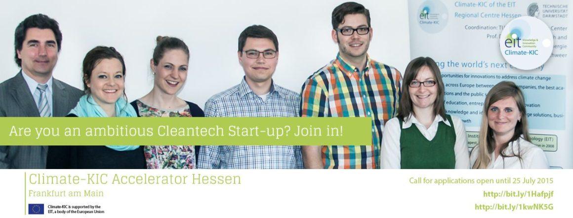 Climate-KIC Accelerator Hessen fördert Startups mit einem Beitrag zum Umweltschutz