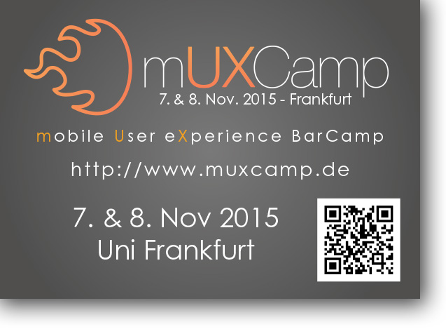 mUXCamp – mobile User eXperience BarCamp am 7. und 8. November in Frankfurt