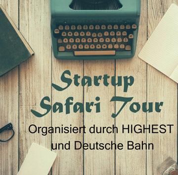 """DB sucht Gründungen für """"Startup Safari Tour"""""""