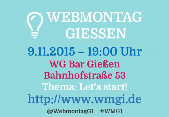 WebMontag Gießen #1 – Let's start!