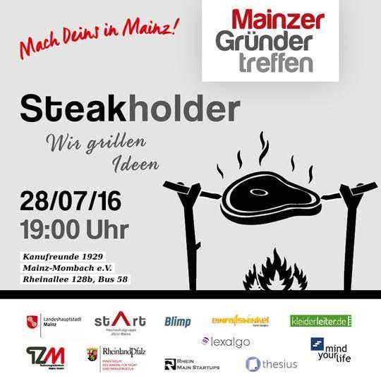 Mainzer Gründergrillen am 28. Juli