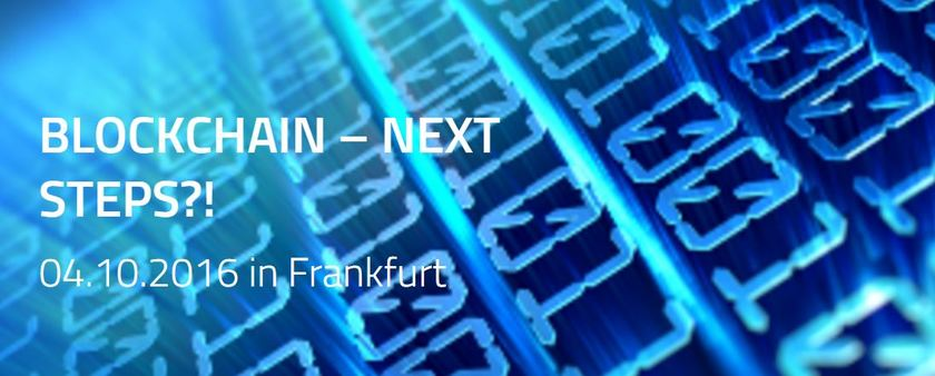 "Between the Towers am 4. Oktober 2016 zum Thema ""Blockchain – next steps?!"