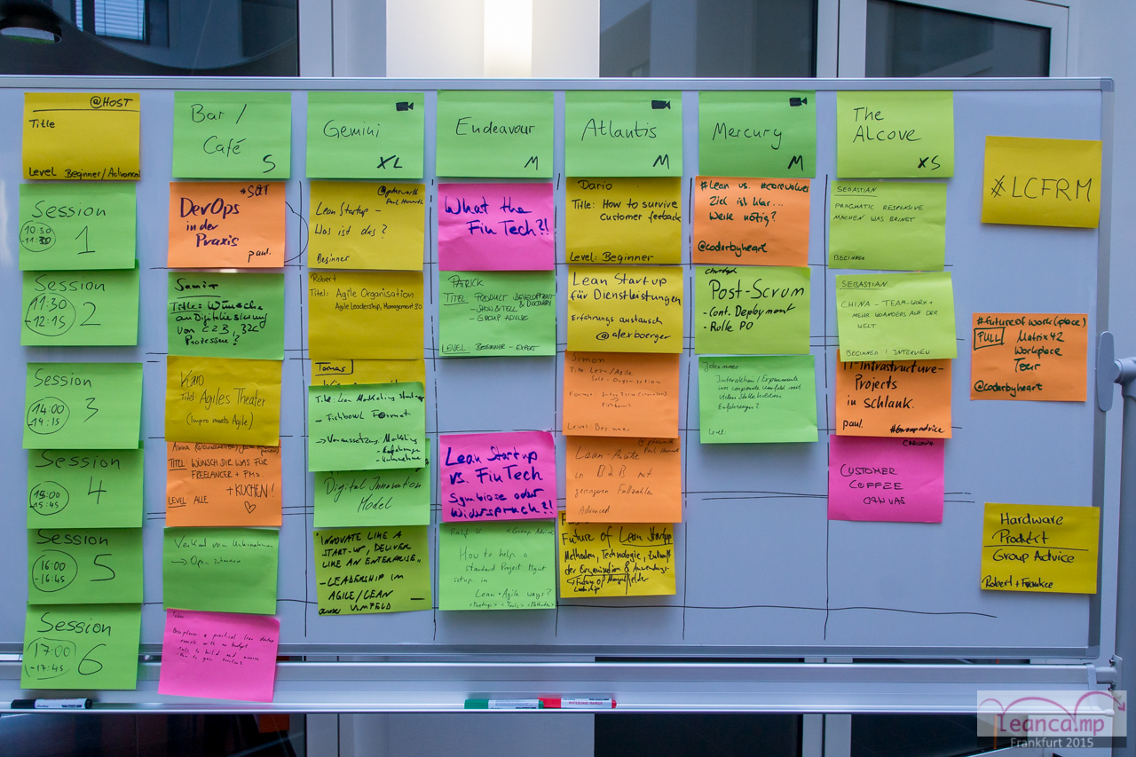 LeanCamp Timetable