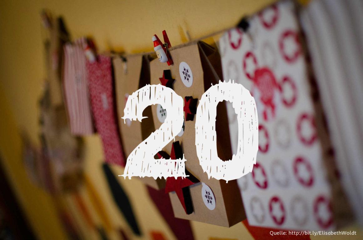 Startup-Adventskalender: das 20. Türchen