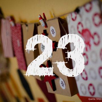 Startup-Adventskalender: das 23. Türchen
