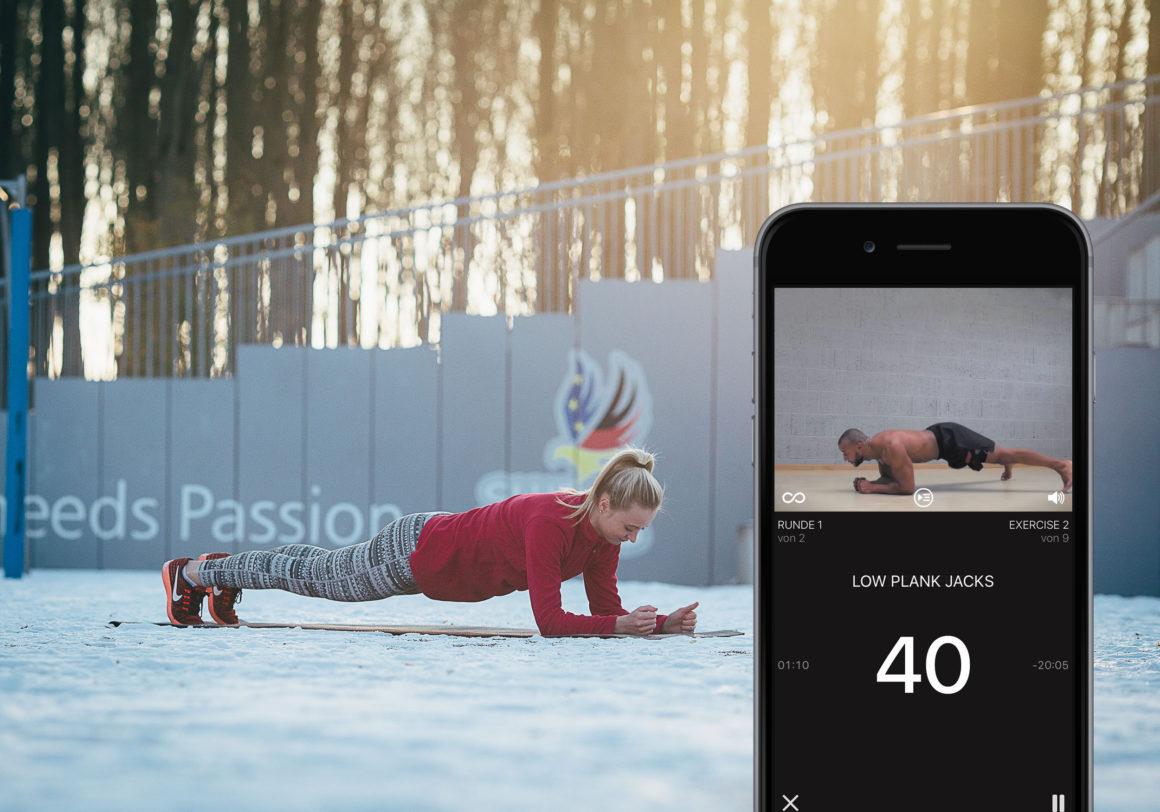 Muskeln ohne Fitness-Studio – Bodyweight-App