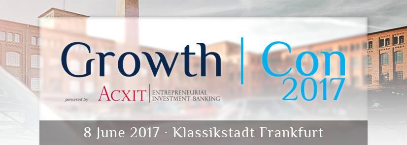 GrowthCon 2017 in Frankfurt