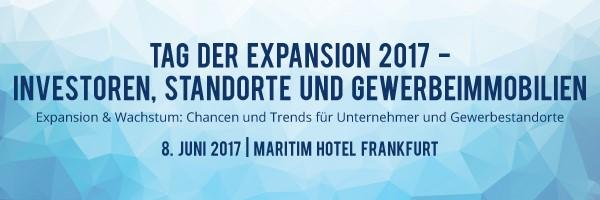 Tag der Expansion 2017 – Chancen und Trends für Unternehmer und Gewerbestandorte