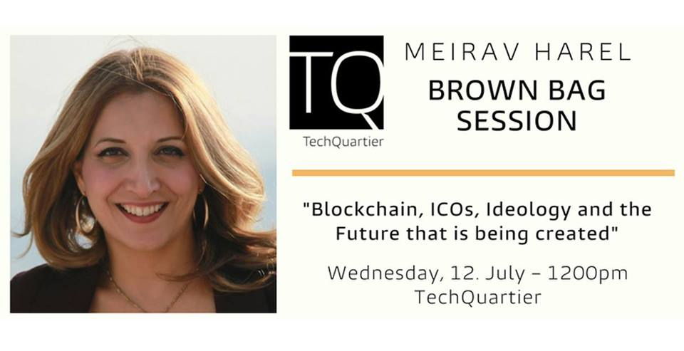 Brown Bag Session with Meirav Harel about Blockchain – next week in Frankfurt