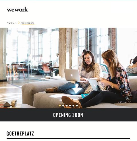 Opening Soon: WeWork Frankfurt – need a place for your start-up?