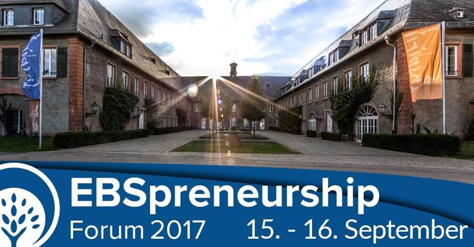 EBSpreneurship Forum 2017 – Tomorrow's world belongs to today's entrepreneurs!