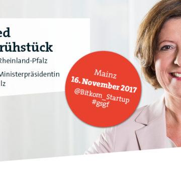 Gründerfrühstück mit Ministerpräsidentin Malu Dreyer in Mainz