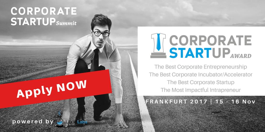 Corporate Startup Summit & Award 2017