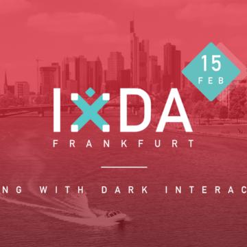 IxDA Frankfurt: Dealing with dark interactions