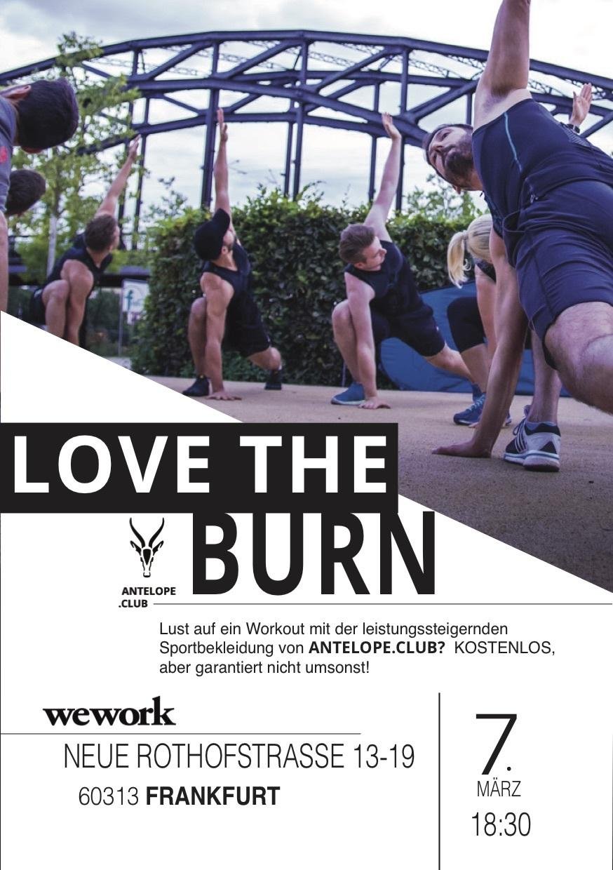 Tip for today: Love the Burn by Antelope at WeWork