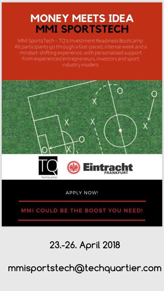 15 startups at MMI SportsTech program with Eintracht Frankfurt / starting tomorrow