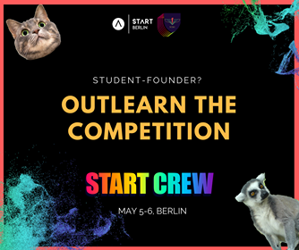Start Crew a weekend program in Berlin on May 4-6th designed for young entrepreneurs
