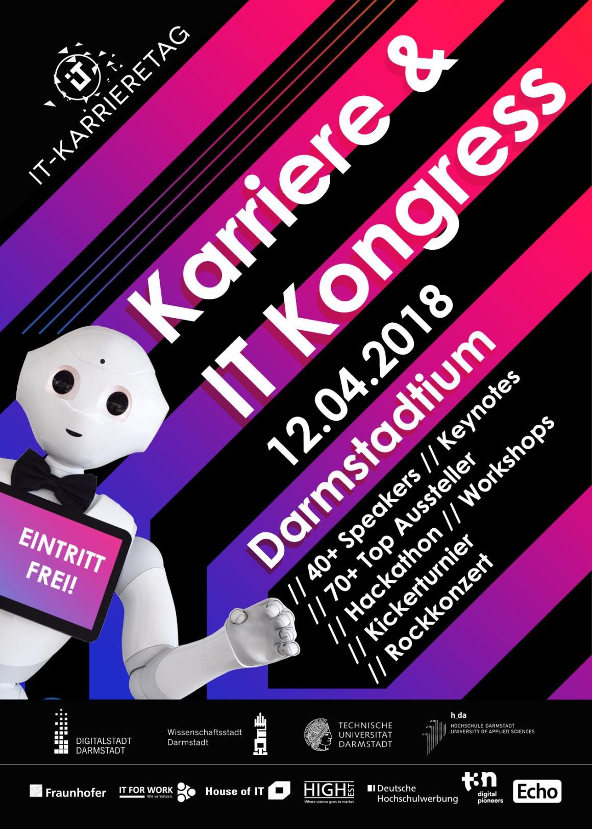 "Career & IT Congress ""IT-Karrieretag"" in Darmstadt, April 12th 2018"