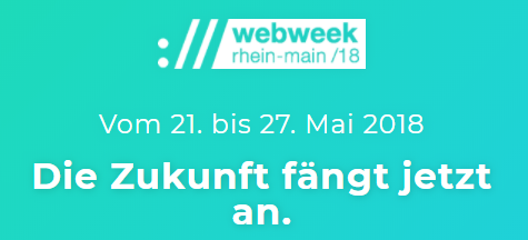 Die ://webweek rhein-main – volle Community-Power vom 21.-27. Mai
