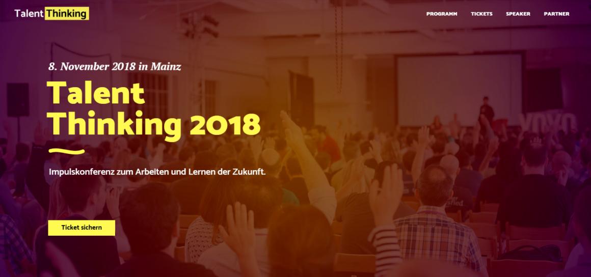 New Work und Gamification: Erste Digital-Konferenz TALENT THINKING in Mainz