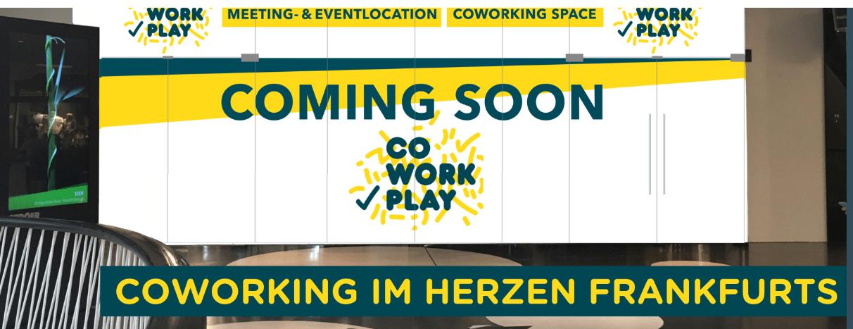 CoWorkPlay MyZeil: Coming Soon Multifunktionaler Coworking-Space im Herzen der Stadt Frankfurt