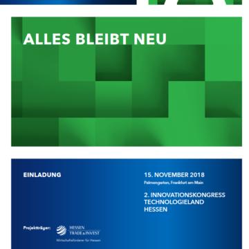 Einladung zum 2. Hessischen Innovationskongress am 15. November 2018 im Palmengarten in Frankfurt