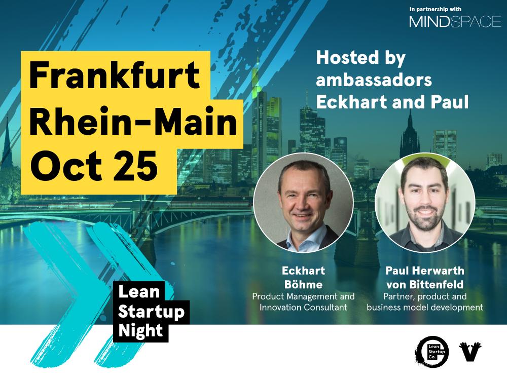 Lean Startup Night Frankfurt Oktober 2018