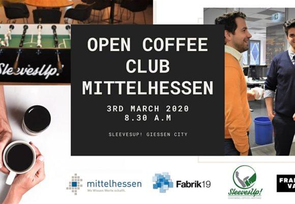 Open Coffee Club Mittelhessen @ SleevesUp! Gießen City